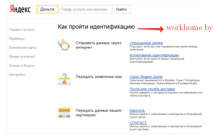 Способы индентификации Яндекс Деньги